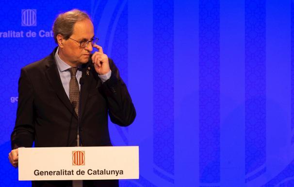 El president de la Generalitat, Quim Torra, en una comparecencia.