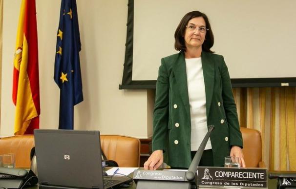 Cani Fernández, futura presidenta de la CNMC durante su comparencia en el Congreso.