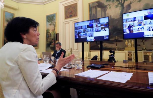 La ministra de Educación, Isabel Celaá, durante la Conferencia Sectorial de Educación