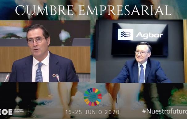 Ángel Simón Agbar y Antonio Garamendi