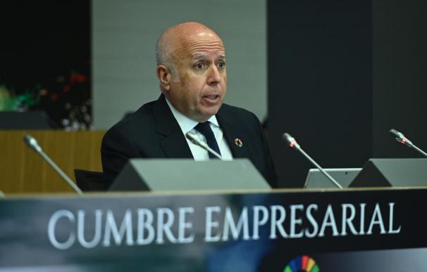 El presidente de KPMG España, Hilario Albarracín, durante su intervención.