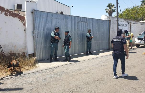 Momento del mayor dispositivo lucha narcotráfico en Huelva