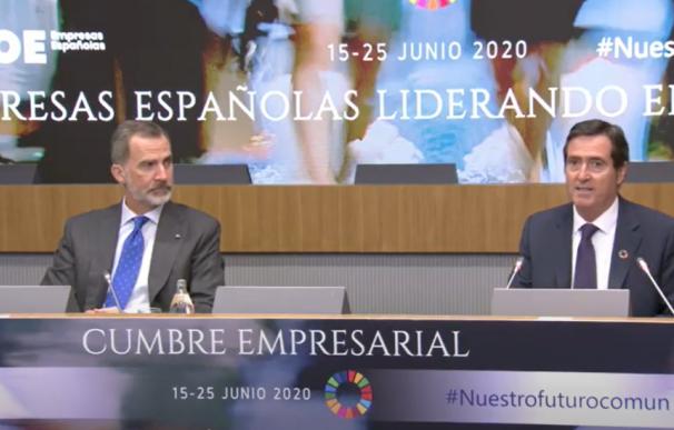 El rey Felipe VI, en la cumbre de la CEOE