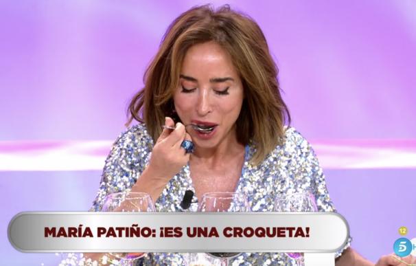 María Patiño descubre una croqueta.