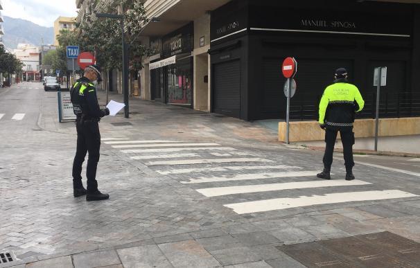 Policía local de Málaga Policías de Marbella en un control durante pandemia del coronavirus (Foto de ARCHIVO) 8/4/2020