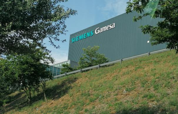 La planta que la multinacional Siemens Gamesa tiene en As Somozas (A Coruña) . La planta que la multinacional Siemens Gamesa tiene en As Somozas (A Coruña) . 18/6/2020