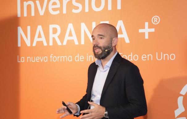 El director de estrategia e inversión de ING España, Francisco Quintana, en la presentación de Inversión Naranja+.
