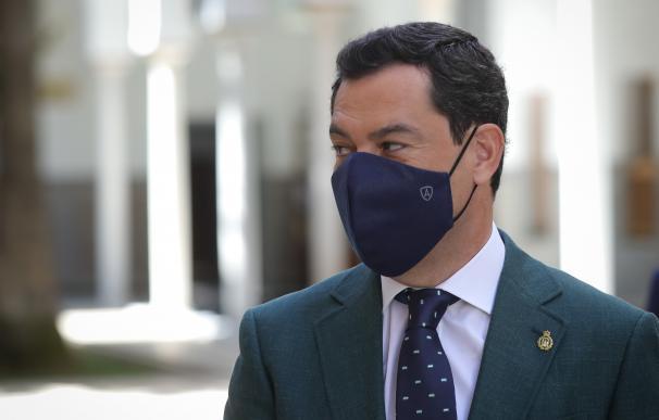 Moreno propondrá el lunes al comité técnico-médico que sea obligatorio el uso de la mascarilla en Andalucía