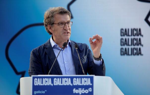 El presidente de la Xunta y candidato a la reelección, Alberto Núñez Feijóo