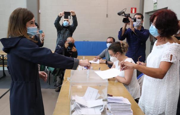 La candidata a lehendakari de Elkarrekin Podemos-IU, Miren Gorrotxategi, el pasado domingo