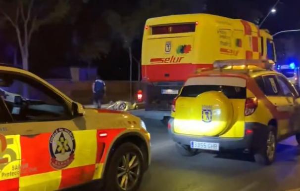 Motorista muerto choque semáforo Madrid, Samur Emergencias Madrid