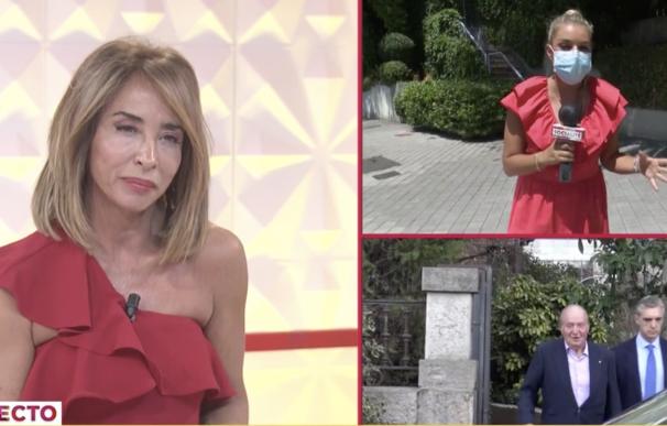 María Patiño conectando este sábado con la casa de la infanta Elena en 'Socialité'