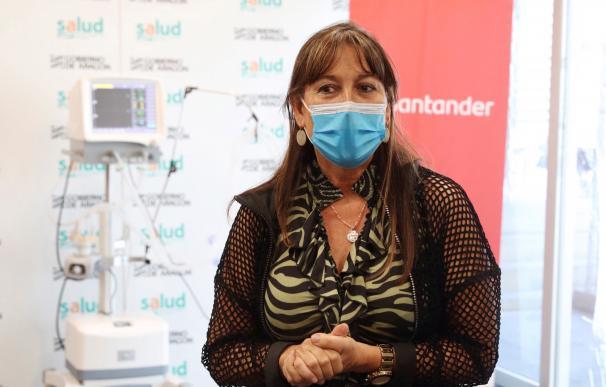 La consejera de Sanidad de Aragón, Sira Repollés