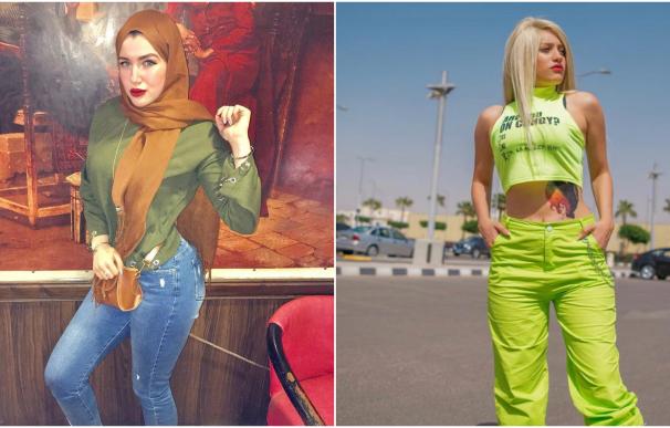 Las 'tiktokers' Mawda El-Adham y Haneen Hossam