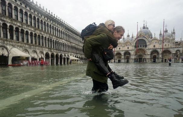 Venecia durante una de las recientes mareas altas