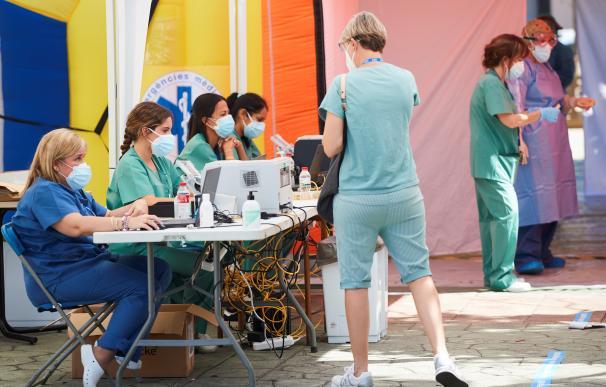 Pruebas PCR para detectar positivos en Terrassa (Barcelona)