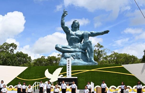 Nagasaki conmemora el 75 aniversario de la bomba atómica en 1945