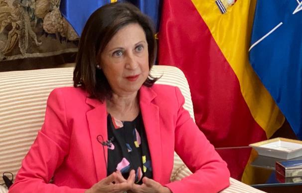 La ministra de Defensa, Margarita Robles, en una entrevista con EP.