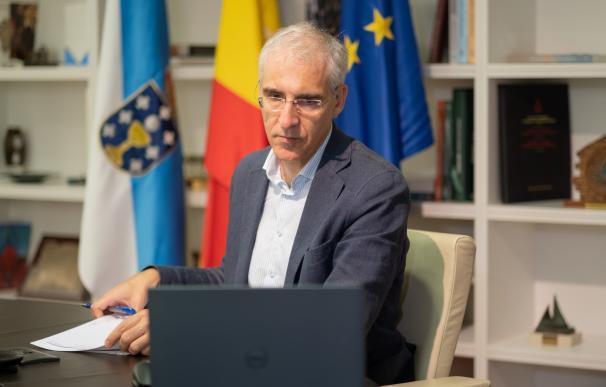 Conselleiro economía O conselleiro de Economía participa na xuntanza da mesa multilateral de Alcoa San Cibrao 28/8/2020