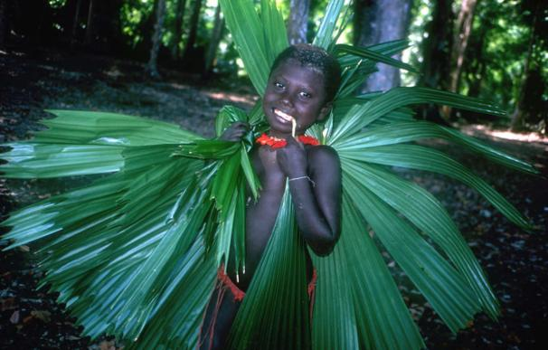 Niño de una tribu