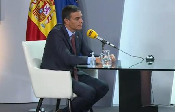 Pedro Sánchez entrevista en la cadena Ser