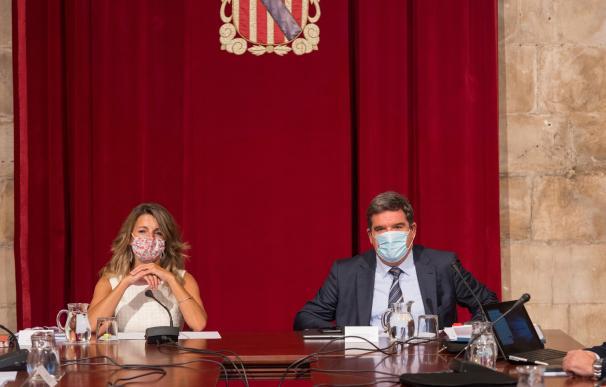 Yolanda Díaz y José Luis Escrivá