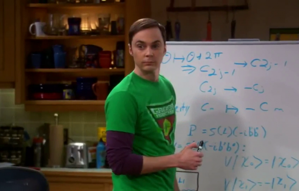 Sheldon Cooper, en Big Bang Theory.