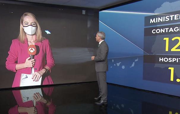 Vicente Vallés es uno de los periodistas que más pantallas utiliza en emisión.
