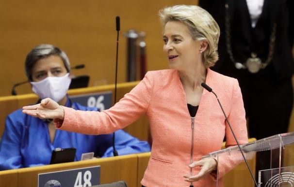 La presidenta de la Comisión Europea, Úrsula von der Leyen.