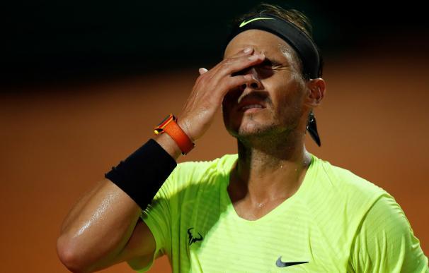 Rada Nadal, en el partido del torneo de Roma donde fue eliminado.