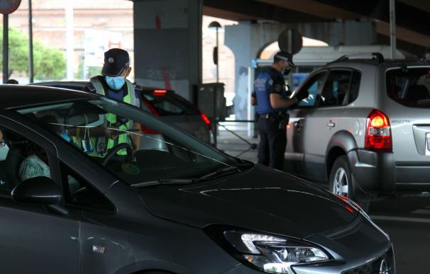 Control policial en Puente de Vallecas