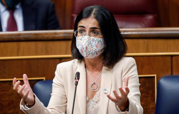 Carolina Darias, este miércoles, en el Congreso