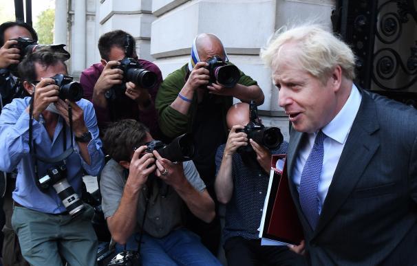 El primer ministro británico, Boris Johnson, llegando a Downing Street en imagen de archivo