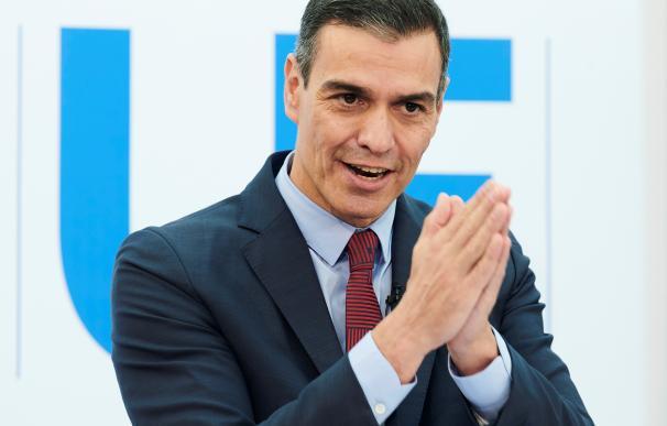 El presidente del Gobierno, Pedro Sánchez, interviene este viernes en rueda de prensa tras la cumbre extraordinaria de la UE celebrada en Bruselas, Bélgica.