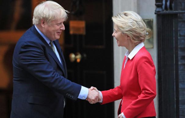 Ursula von der Leyen y Boris Johnson, durante un encuentro a principios de año