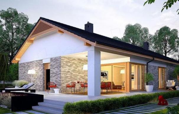 Uno de los modelos más lujosos de casas prefabricadas con tres habitaciones y dos baños distribuidos en 168 metros cuadrados.