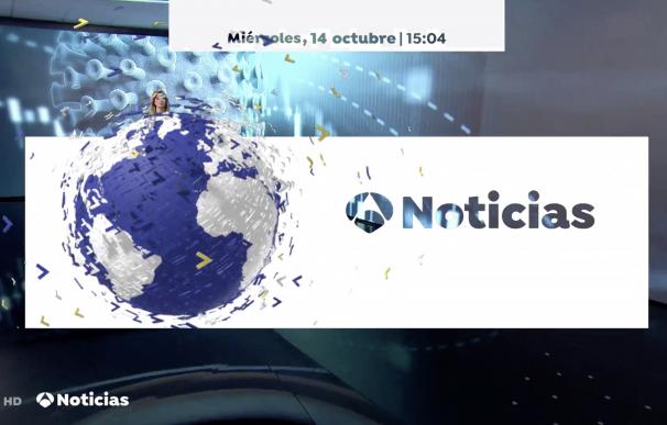 La cabeza de Sandra Golpe asoma junto al logotipo de Antena 3 Noticias