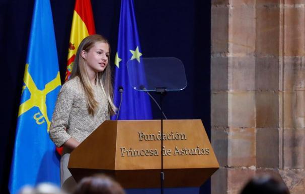 La princesa Leonor en la entrega de los Premios Princesa de Asturias