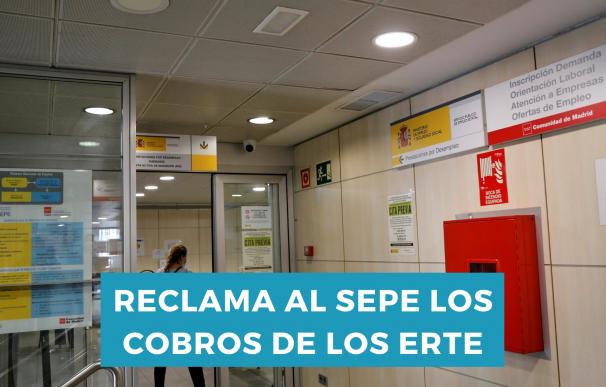 Los beneficiarios de un ERTE pueden reclamar el cobro al SEPE.