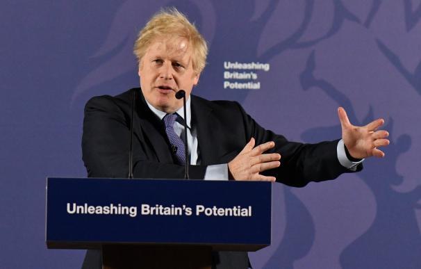 El primer ministro del Reino Unido, Boris Johnson, en una intervención reciente.