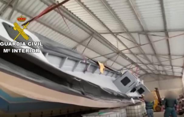 Cae un 'narco-embarcadero' desde el que traficaban con hachís en el Estrecho.