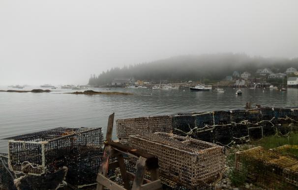 La captura de la langosta es esencial en Maine. En la imagen, el pueblo pesquero de Stonington.