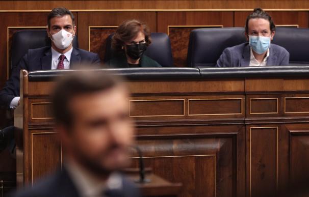 Pedro Sánchez Pablo Casado Congreso Diputados