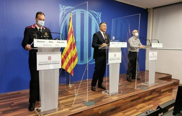 conseller interior miquel samper subdirector de Protección Civil de la Generalitat Sergio Delgado comisario jefe de los Mossos Esquadra Eduard Sallent