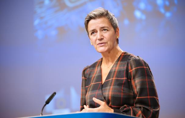 la vicepresidenta de la Comisión Europea responsable de Competencia, Margrethe Vestager