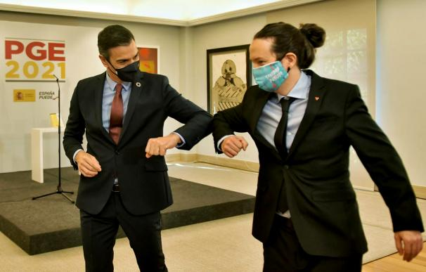 Sánchez e Iglesias han cuadrado los Presupuestos de 2021 'a codazo limpio' para asegurar su contrato de alquiler en Moncloa durante todo lo que resta de legislatura.