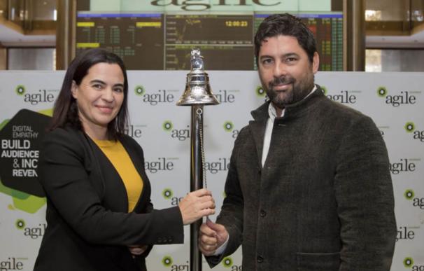 Agile cotiza en la Bolsa de Barcelona.