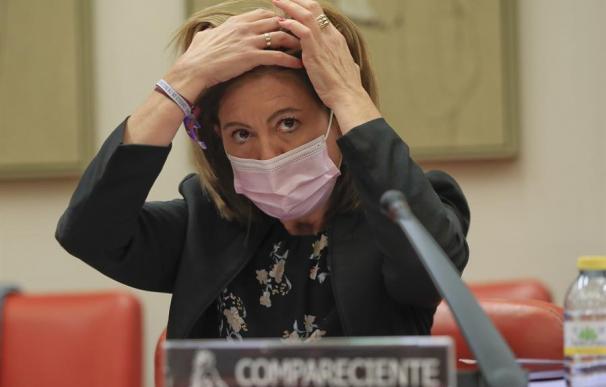 La secretaria de Estado de Hacienda, Inés Bardón, durante su comparecencia parlamentaria.