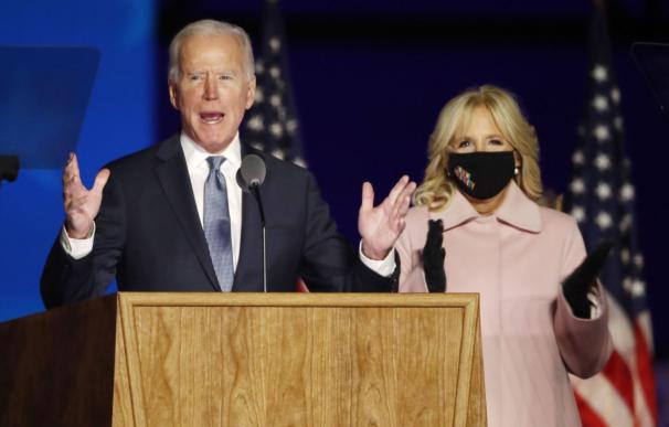 """5 de noviembre de 2020. Joe Biden pide calma e insiste en que """"cada papeleta debe ser contada""""."""