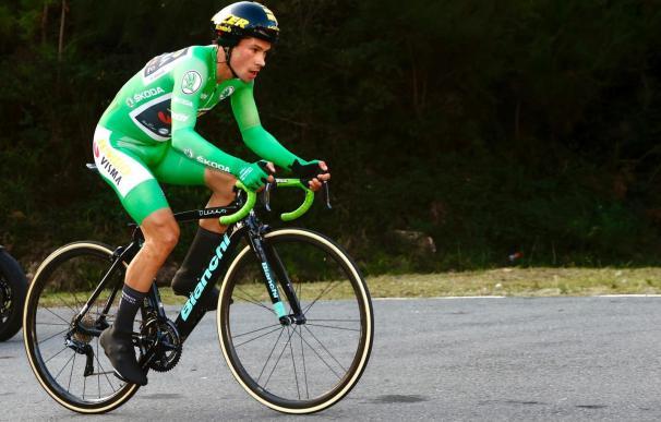 El ciclista esloveno Primoz Roglic (Jumbo-Visma), ganador de la contrarreloj de la decimotercera etapa de La Vuelta a España 2020